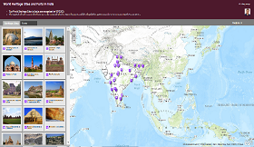 locations and descriptions of world heritage sites and forts in india view map